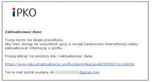 Fałszywe maila z iPKO !